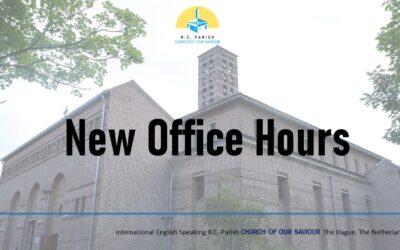 New Parish Office Hours